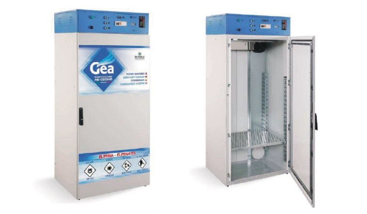 Cabina sanificatrice ozono maxi gea