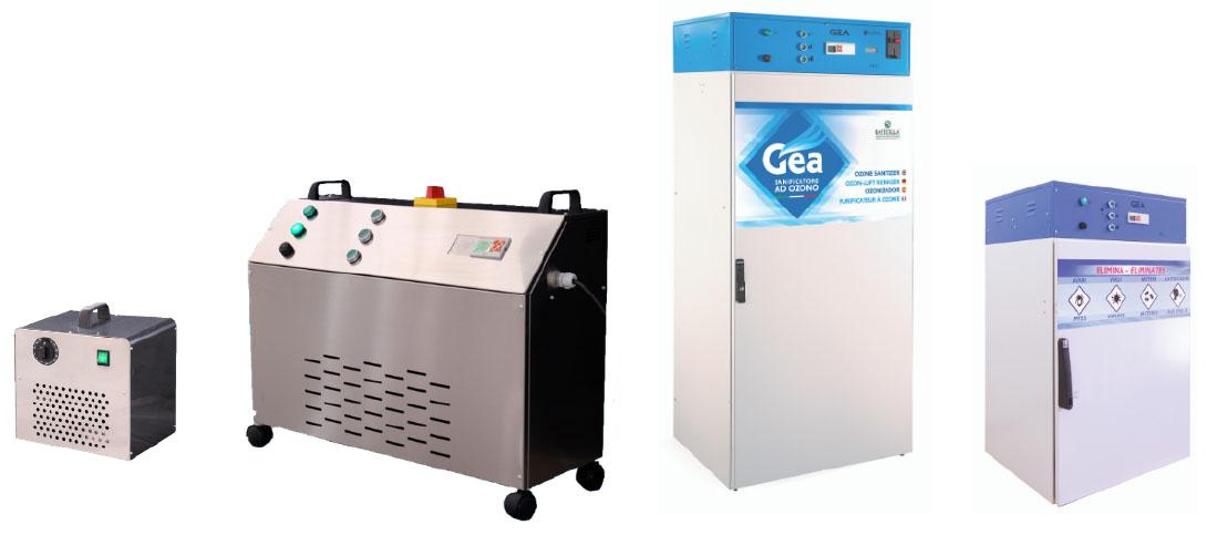 Macchine sanificatrici Cabine e generatori ozono